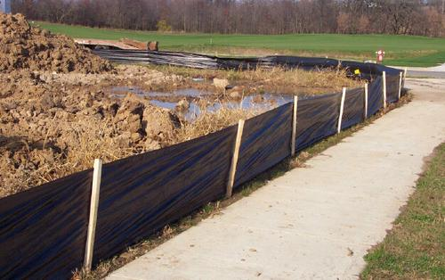 silt fence at construction site