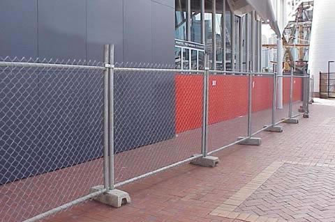 temporary-fence at build site