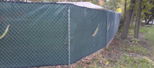 post driven fence with privacy